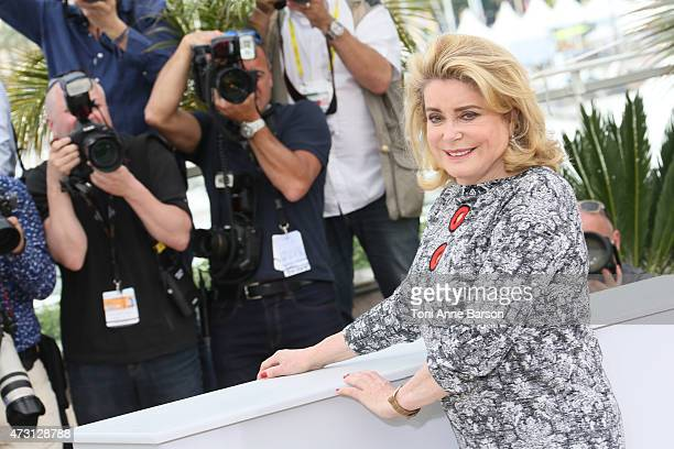 Catherine Deneuve attends the 'La Tete Haute' photocall during the 68th annual Cannes Film Festival on May 13 2015 in Cannes France