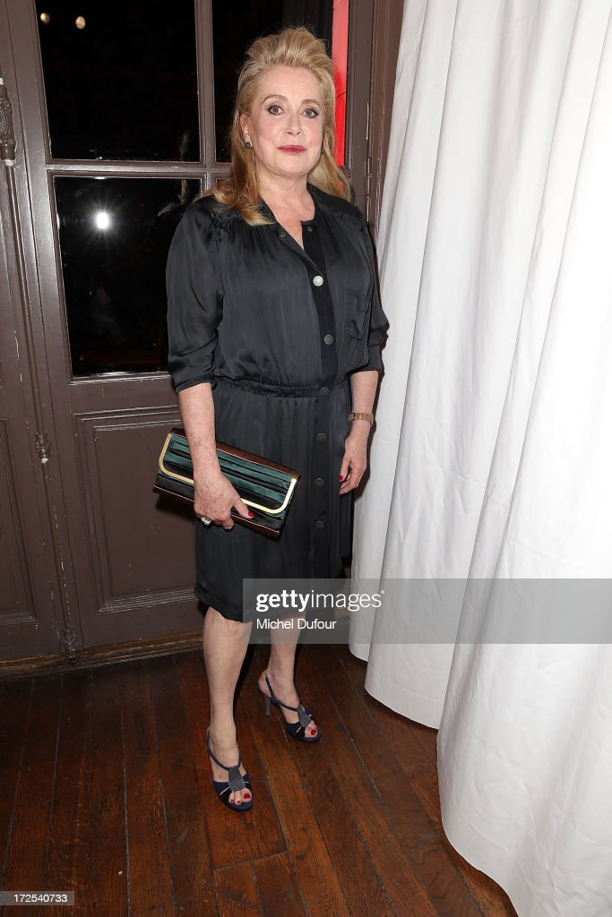 Catherine Deneuve attends the 'Lancome Show by Alber Elbaz' at Le Trianon on July 2, 2013 in Paris, France.