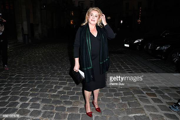 Catherine Deneuve attends the Lanvin show as part of the Paris Fashion Week Womenswear Spring/Summer 2015 on September 25 2014 in Paris France