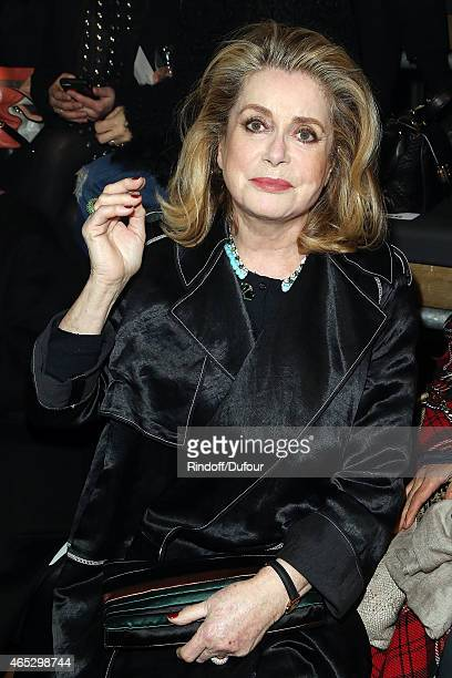 Catherine Deneuve attends the Lanvin show as part of the Paris Fashion Week Womenswear Fall/Winter 2015/2016 on March 5 2015 in Paris France