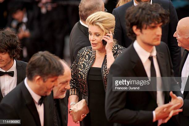 Catherine Deneuve attends the 'Les BienAimes' premiere at the Palais des Festivals during the 64th Cannes Film Festival on May 22 2011 in Cannes...