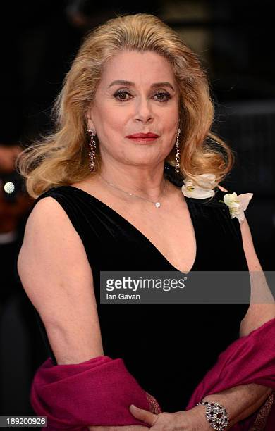 Catherine Deneuve attends the 'Les Salauds' premiere during The 66th Annual Cannes Film Festival at Salle Debussy on May 21 2013 in Cannes France