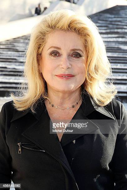 Catherine Deneuve attends the Louis Vuitton show as part of the Paris Fashion Week Womenswear Spring/Summer 2015 on October 1 2014 in Paris France