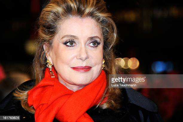 Catherine Deneuve attends the 'On My Way' Premiere during the 63rd Berlinale International Film Festival at Berlinale Palast on February 15 2013 in...