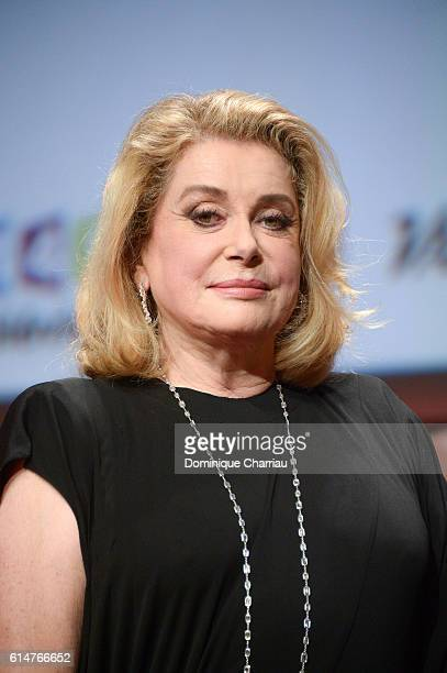 Catherine Deneuve attends the 'Prix Lumiere 2016' Award during the 8th Film Festival Lumiere In Lyon on October 14 2016 in Lyon France