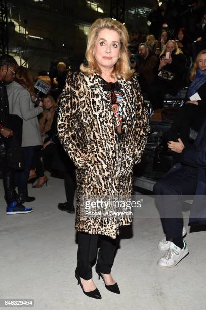Catherine Deneuve attends the Saint Laurent show as part of the Paris Fashion Week Womenswear Fall/Winter 2017/2018 on February 28 2017 in Paris...