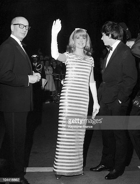 Catherine Deneuve Attends The Screening Of The Film Les Cendres By Andrzej Wajda At The Cannes Film Festival On May 6 1966