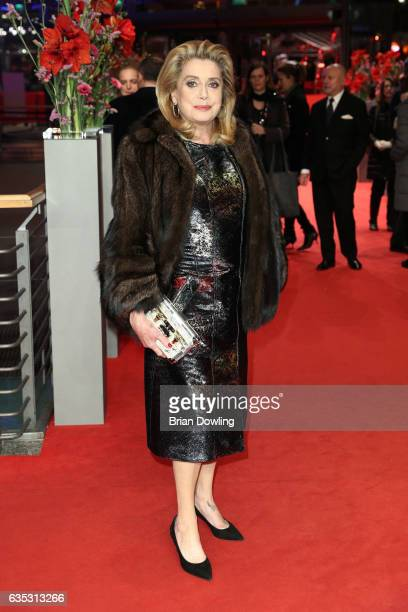 Catherine Deneuve attends the 'The Midwife' premiere during the 67th Berlinale International Film Festival Berlin at Berlinale Palace on February 14...