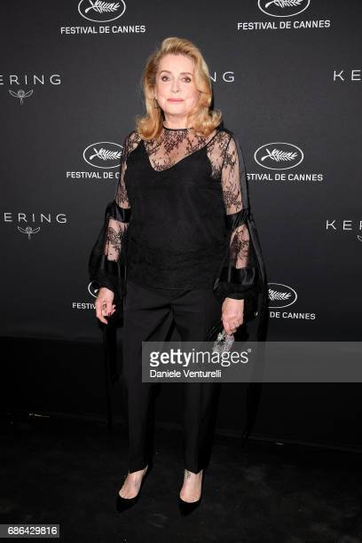 Catherine Deneuve attends the Women in Motion Awards Dinner at the 70th Cannes Film Festival at Place de la Castre on May 21 2017 in Cannes France