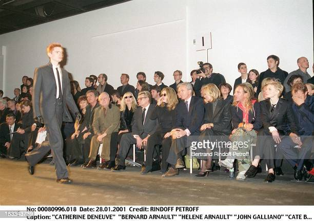 Catherine Deneuve 'Bernard Arnault' 'Helene Arnault' 'John Galliano' 'Cate Blanchett at theChristian Dior Catwalk Menswear Autumn Winter 2001/2002 In...