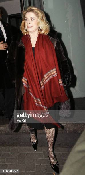 Catherine Deneuve during Celebrity Sightings at Nobu in London January 30 2006 at Nobu in London Great Britain