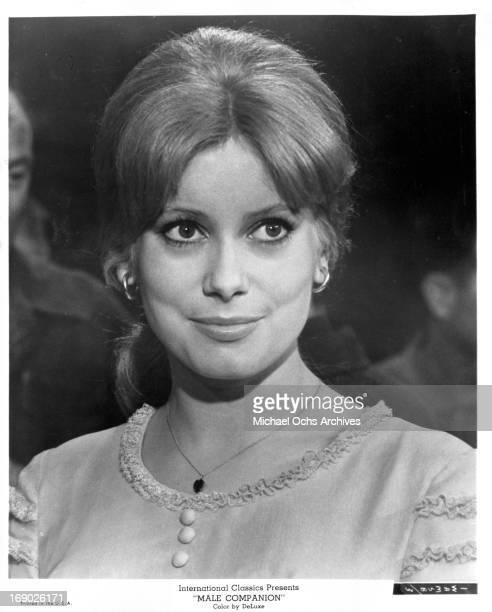 Catherine Deneuve in a scene from the film 'Male Companion' 1964
