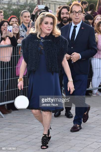 Catherine Deneuve is seen arriving at Louis Vuitton show during Paris Fashion Week Womenswear Spring/Summer 2018 on October 3 2017 in Paris France