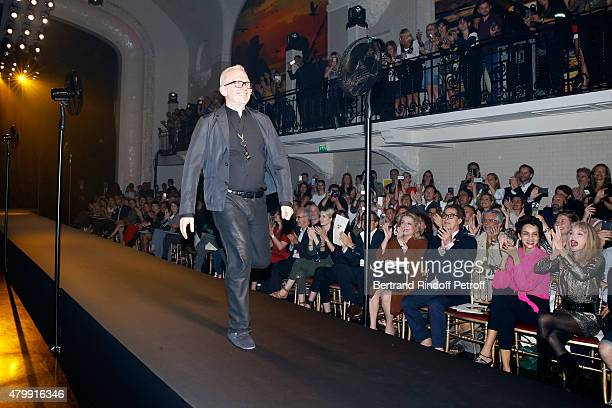 Catherine Deneuve Michel Dufour Farida Khelfa and Arielle Dombasle attending Fashion Designer JeanPaul Gaultier acknowledges the applause of the...