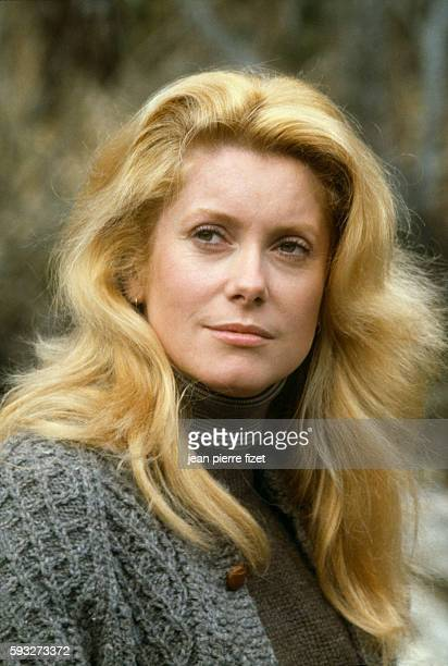 Catherine Deneuve on the set of the French 1979 film A Nous Deux directed by Claude Lelouch