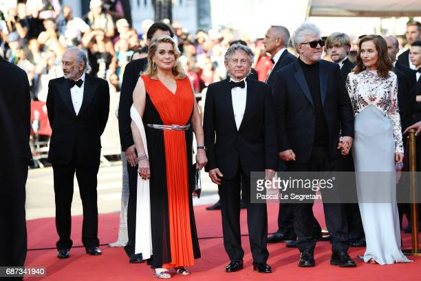 Catherine Deneuve Roman Polanski Pedro Almodovar and Isabelle Huppert attend the 70th Anniversary of the 70th annual Cannes Film Festival at Palais...