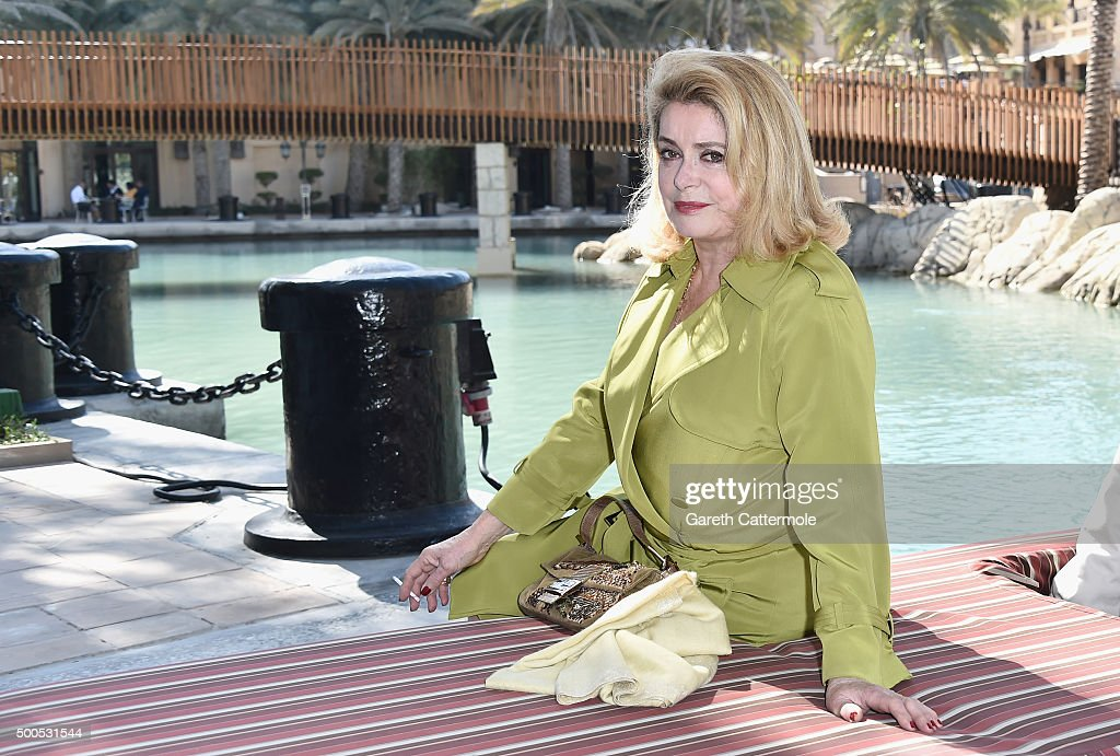 <a gi-track='captionPersonalityLinkClicked' href=/galleries/search?phrase=Catherine+Deneuve&family=editorial&specificpeople=123833 ng-click='$event.stopPropagation()'>Catherine Deneuve</a>, who receives a Lifetime Achievement award, arrives ahead of a photocall during day one of the 12th annual Dubai International Film Festival held at the Madinat Jumeriah Complex on December 9, 2015 in Dubai, United Arab Emirates.