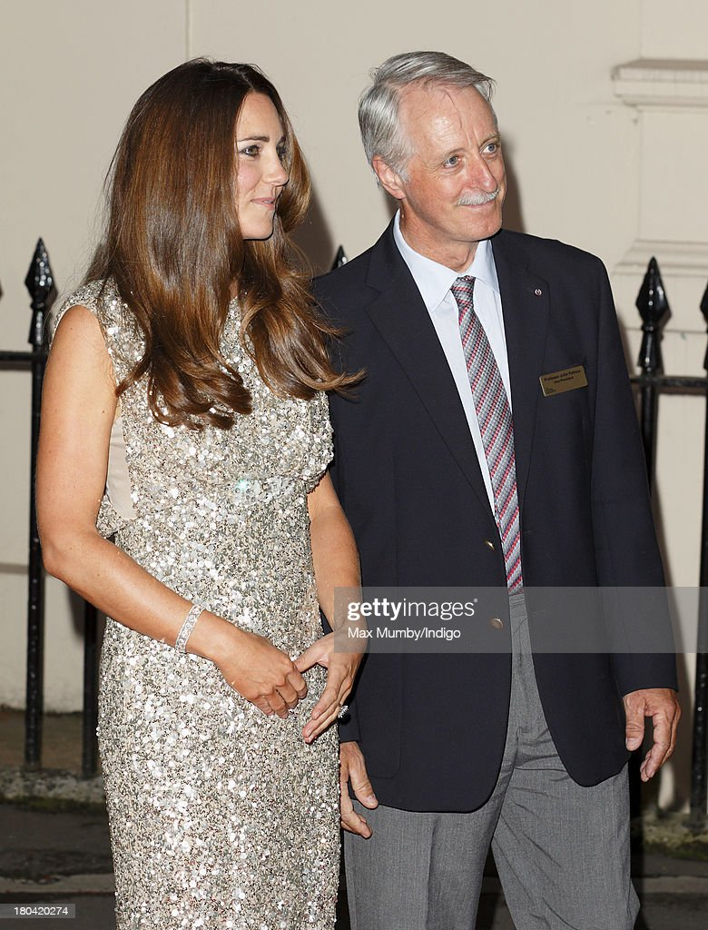 Catherine, Duchess of Cambridge accompanied by Professor John Pethica (Vice President of The Royal Society) attends the Tusk Conservation Awards at The Royal Society on September 12, 2013 in London, England.