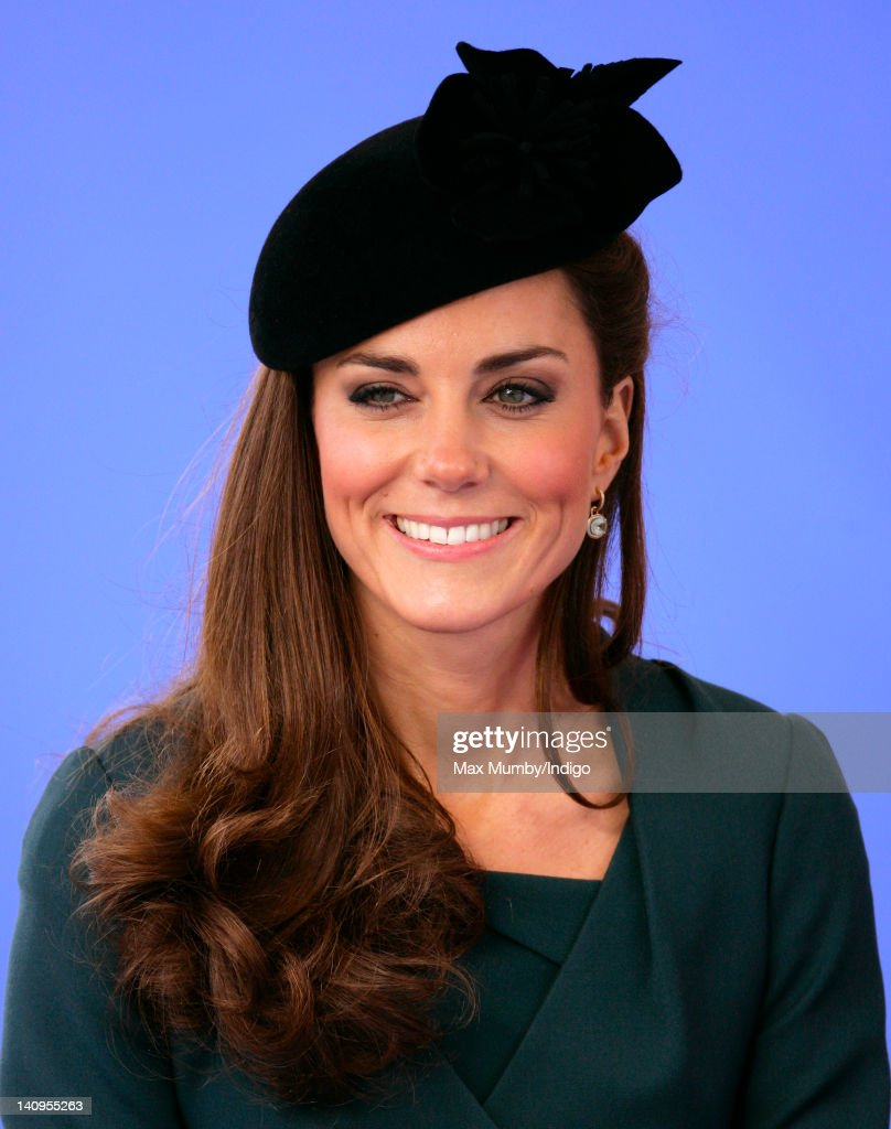 Catherine Duchess of Cambridge accompanies Queen Elizabeth II and Prince Philip, Duke of Edinburgh on a visit to Leicester on the first date of Queen Elizabeth II's Diamond Jubilee tour of the UK on March 8, 2012 in Leicester, England.