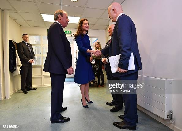 Catherine Duchess of Cambridge and Chief Executive Officer of the Anna Freud National Centre for Children and Families Peter Fonagy arrive for a...