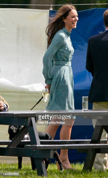 Catherine Duchess of Cambridge and her dog Lupo attend the Audi Polo Challenge charity polo match in which Prince William Duke of Cambridge and...