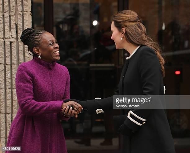 Catherine Duchess of Cambridge and New York City Mayor Bill de Blasio's wife Chirlane McCray meet at Northside Center for Child Development on...