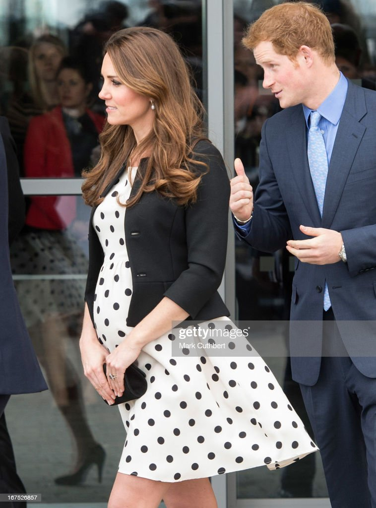 Catherine, Duchess of Cambridge and <a gi-track='captionPersonalityLinkClicked' href=/galleries/search?phrase=Prince+Harry&family=editorial&specificpeople=178173 ng-click='$event.stopPropagation()'>Prince Harry</a> attend the Inauguration Of Warner Bros. Studios Leavesden on April 26, 2013 in Watford, England. attend the inauguration of Warner Bros. Studio Tour London on April 26, 2013 in Watford, England.