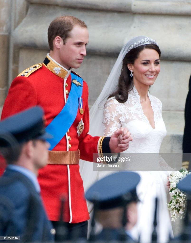 Catherine, Duchess of Cambridge and Prince William, Duke of Cambridge leave after their Wedding at Westminster Abbey on April 29, 2011 in London, England.