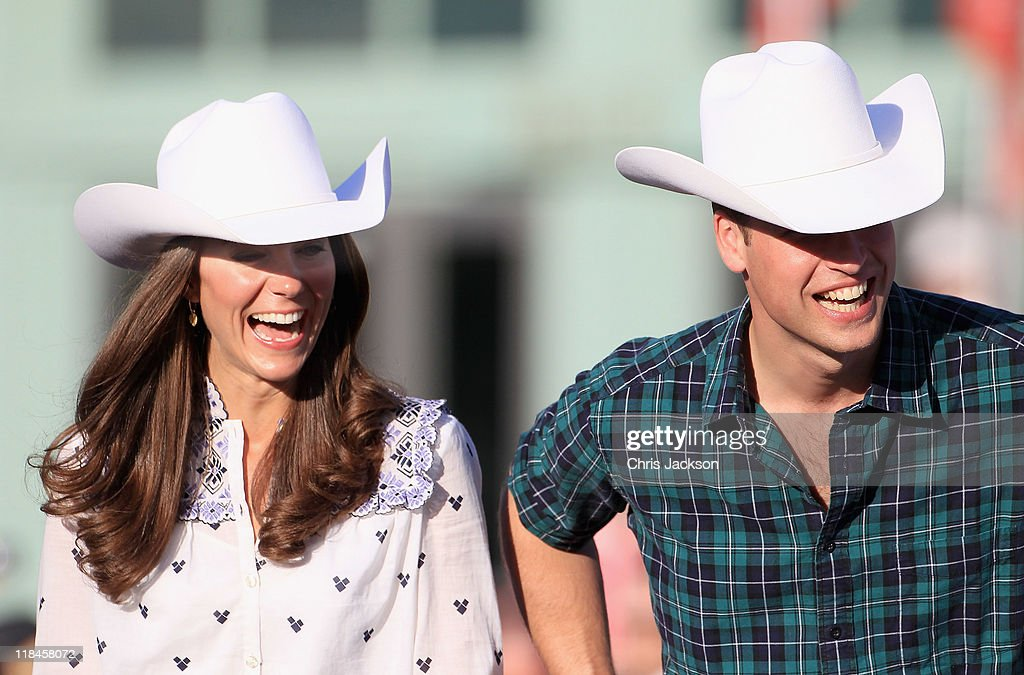Catherine, Duchess of Cambridge and Prince William, Duke of Cambridge watch a rodeo demonstration at a Government Reception at the BMO Centre on July 7, 2011 in Calgary, Canada. The newly married Royal Couple are on the eighth day of their first joint overseas tour. The 12 day visit to North America is taking in some of the more remote areas of the country such as Prince Edward Island, Yellowknife and Calgary. The Royal couple started off their tour by joining millions of Canadians in taking part in Canada Day celebrations which mark Canada's 144th Birthday.