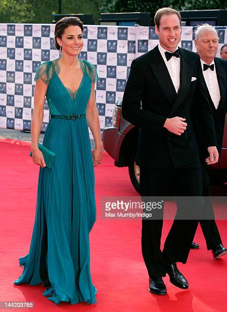Catherine Duchess of Cambridge and Prince William Duke of Cambridge arrive at 'Our Greatest Team Rises BOA Olympic Concert' at Royal Albert Hall on...