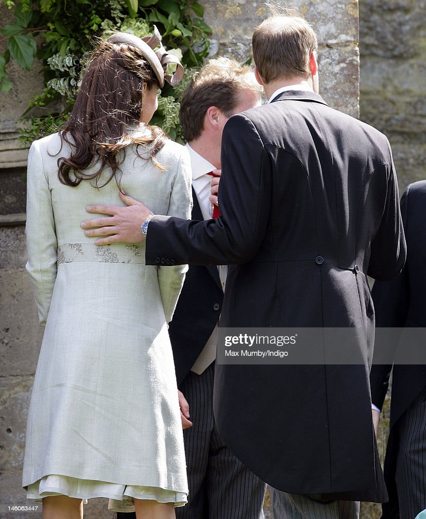 <a gi-track='captionPersonalityLinkClicked' href=/galleries/search?phrase=Catherine+-+Duchess+of+Cambridge&family=editorial&specificpeople=542588 ng-click='$event.stopPropagation()'>Catherine</a>, Duchess of Cambridge and <a gi-track='captionPersonalityLinkClicked' href=/galleries/search?phrase=Prince+William&family=editorial&specificpeople=178205 ng-click='$event.stopPropagation()'>Prince William</a>, Duke of Cambridge attend the wedding of Emily McCorquodale and James Hutt at The Church of St Andrew and St Mary, Stoke Rochford on June 9, 2012 in Grantham, England.