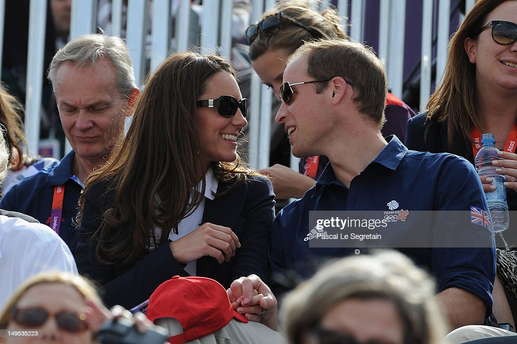 Catherine, Duchess of Cambridge and Prince William, Duke of Cambridge attend the Eventing Cross Country Equestrian event on Day 3 of the London 2012 Olympic Games at Greenwich Park on July 30, 2012 in London, England.