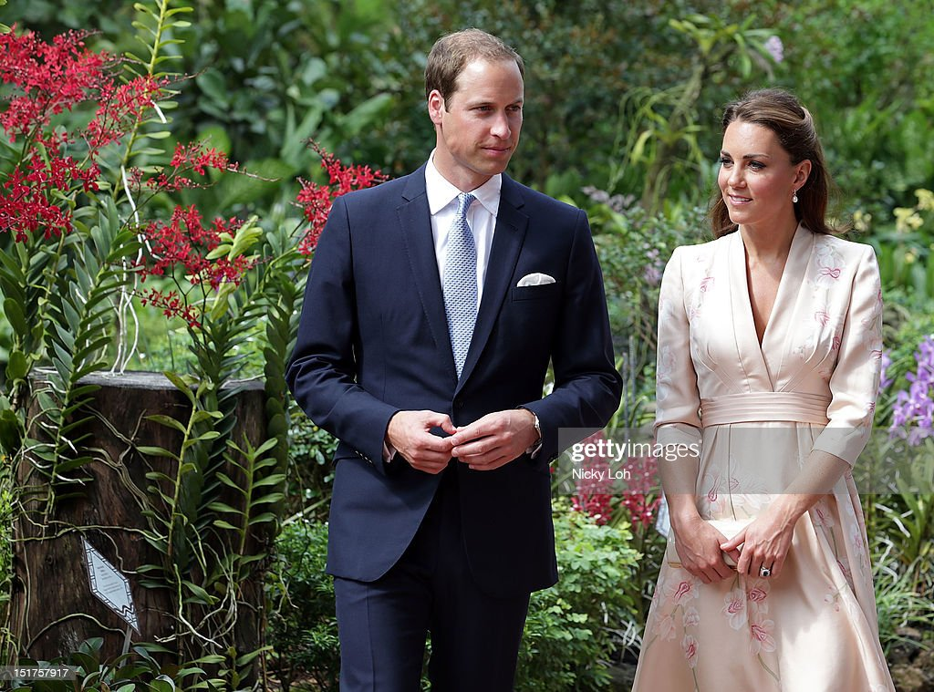 Catherine, Duchess of Cambridge and Prince William, Duke of Cambridge visit Singapore Botanical Gardens on day 1 of their Diamond Jubilee tour on September 11, 2012 in Singapore. Prince William, Duke of Cambridge and Catherine, Duchess of Cambridge are on a Diamond Jubilee Tour of the Far East taking in Singapore, Malaysia, the Solomon Islands and the tiny Pacific Island of Tuvalu.