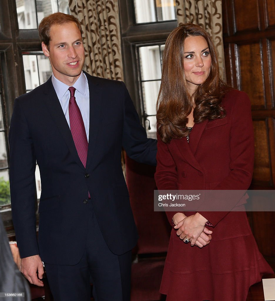 <a gi-track='captionPersonalityLinkClicked' href=/galleries/search?phrase=Catherine+-+Duchess+of+Cambridge&family=editorial&specificpeople=542588 ng-click='$event.stopPropagation()'>Catherine</a>, Duchess of Cambridge and <a gi-track='captionPersonalityLinkClicked' href=/galleries/search?phrase=Prince+William&family=editorial&specificpeople=178205 ng-click='$event.stopPropagation()'>Prince William</a>, Duke of Cambridge visit Middle Temple on October 8, 2012 in London, England. The Duke of Cambridge, Master of the Bench, and The Duchess of Cambridge met recipients of the Queen Mother Scholarship, the Diana, Princess of Wales Scholarship and the Duke and Duchess of Cambridge Scholarships at Middle Temple Inn, London.
