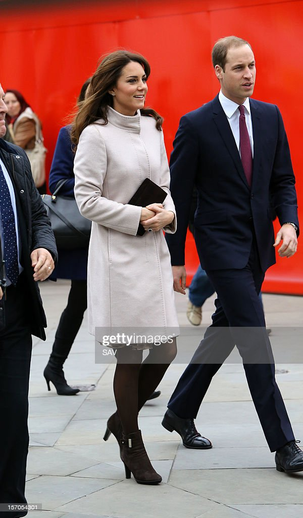 Catherine, Duchess of Cambridge and Prince William, Duke of Cambridge arrive to Kings Cross train station on November 28, 2012 in London, England.