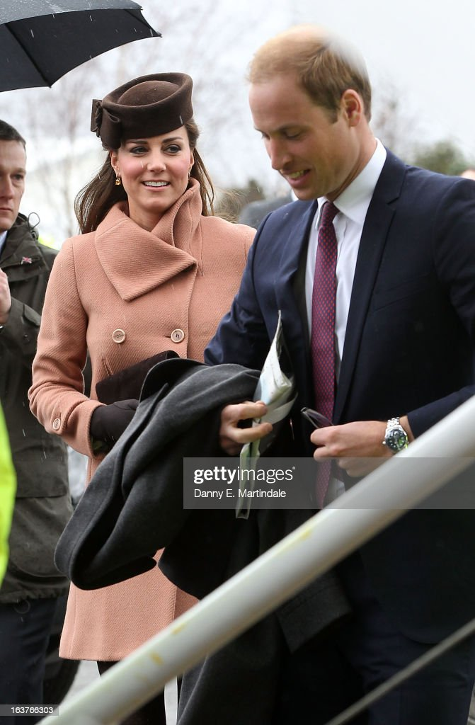 Catherine, Duchess of Cambridge and Prince William, Duke of Cambridge attend day 4 of the Cheltenham Festival at Cheltenham Racecourse on March 15, 2013 in Cheltenham, England.