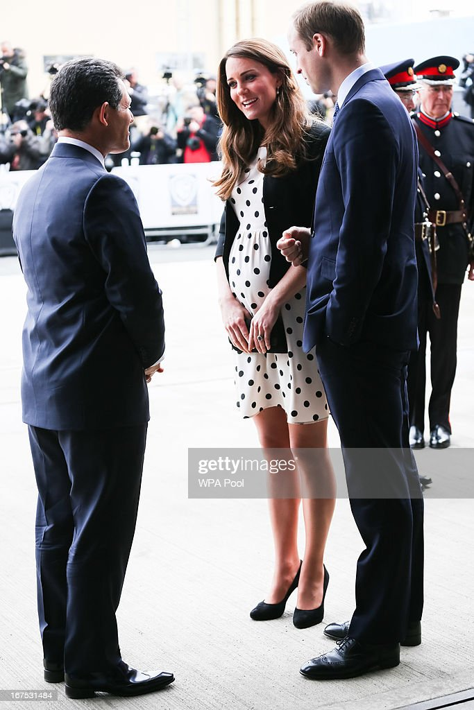 Catherine, Duchess of Cambridge and Prince William, Duke of Cambridge arrive at the Inauguration Of Warner Bros. Studios Leavesden on April 26, 2013 in London, England.