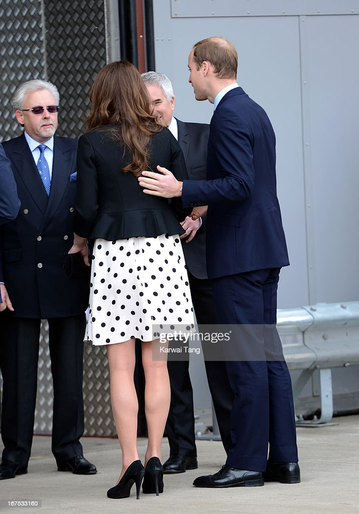 Catherine, Duchess of Cambridge and Prince William, Duke of Cambridge attend the inauguration of Warner Bros. Studio Tour London on April 26, 2013 in Watford, England.