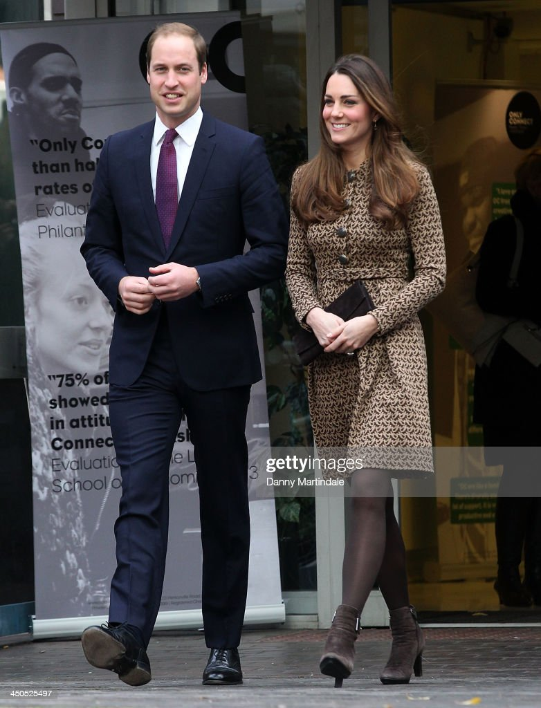 Catherine, Duchess of Cambridge and Prince William, Duke of Cambridge during a visit to the Only Connect and ex-offenders projects on November 19, 2013 in London, England.