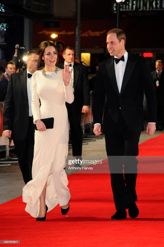 <a gi-track='captionPersonalityLinkClicked' href=/galleries/search?phrase=Catherine+-+Duchess+of+Cambridge&family=editorial&specificpeople=542588 ng-click='$event.stopPropagation()'>Catherine</a>, Duchess of Cambridge and Prince William, Duke of Cambridge attend the Royal film performance of 'Mandela: Long Walk to Freedom' on December 5, 2013 in London, United Kingdom.