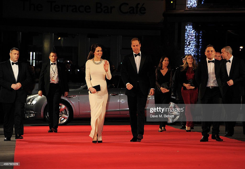 Catherine, Duchess of Cambridge (L) and Prince William, Duke of Cambridge attend the Royal Film Performance of 'Mandela: Long Walk to Freedom' at Odeon Leicester Square on December 5, 2013 in London, United Kingdom.