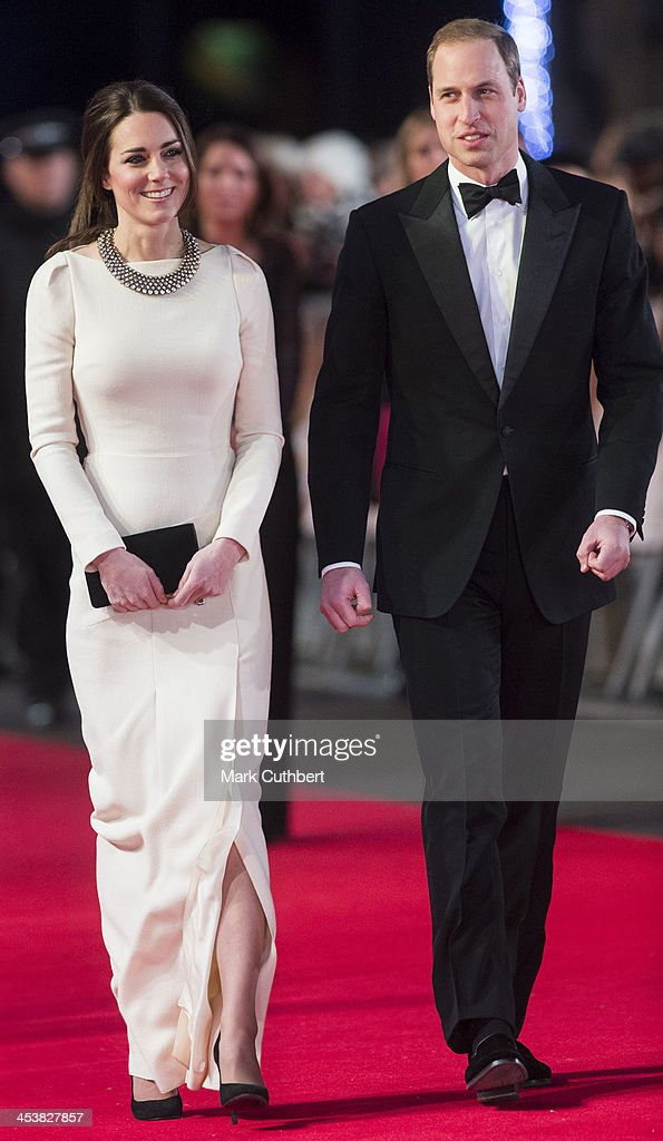 Catherine, Duchess of Cambridge and Prince William, Duke of Cambridge attend the Royal film performance of 'Mandela: Long Walk To Freedom' on December 5, 2013 in London, United Kingdom.