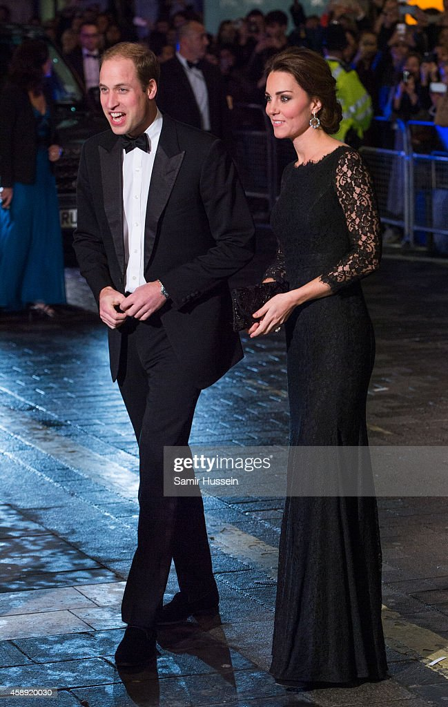 Catherine, Duchess of Cambridge and Prince William, Duke of Cambridge attend The Royal Variety Performance at the London Palladium on November 13, 2014 in London, England.