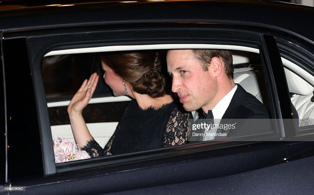 Catherine, Duchess of Cambridge and Prince William, Duke of Cambridge leave the The Royal Variety Performance at London Palladium on November 13, 2014 in London, England.