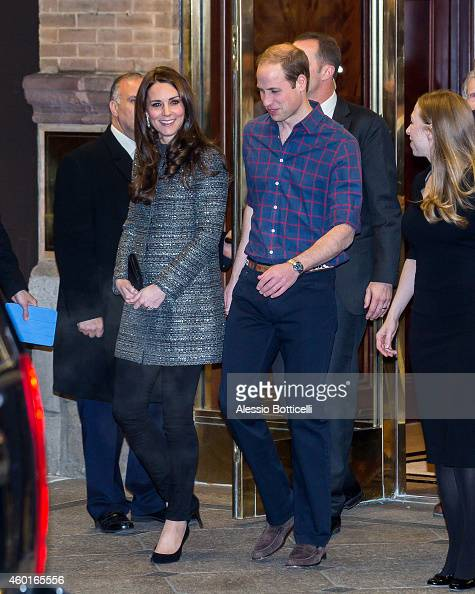 Catherine Duchess of Cambridge and Prince William Duke of Cambridge with Chelsea Clinton and Marc Mezvinsky are seen exiting The British Consul...