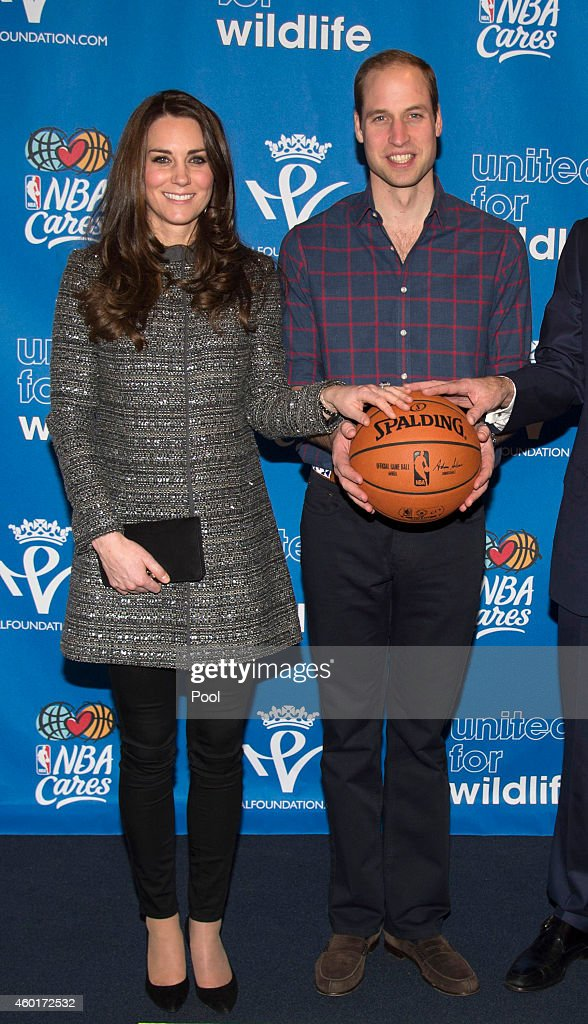 Catherine Duchess of Cambridge and Prince William Duke of Cambridge at Barclays Center on December 8 2014 in the Brooklyn borough of New York City