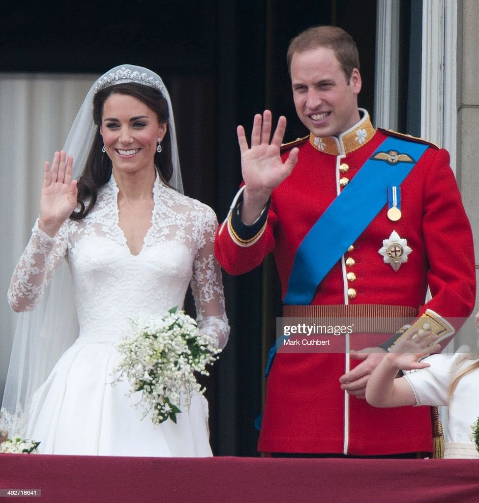 <a gi-track='captionPersonalityLinkClicked' href=/galleries/search?phrase=Catherine+-+Duchess+of+Cambridge&family=editorial&specificpeople=542588 ng-click='$event.stopPropagation()'>Catherine</a>, Duchess of Cambridge and <a gi-track='captionPersonalityLinkClicked' href=/galleries/search?phrase=Prince+William&family=editorial&specificpeople=178205 ng-click='$event.stopPropagation()'>Prince William</a>, Duke of Cambridge on the balcony at Buckingham Palace, following their wedding at Westminster Abbey on April 29, 2011 in London, England.