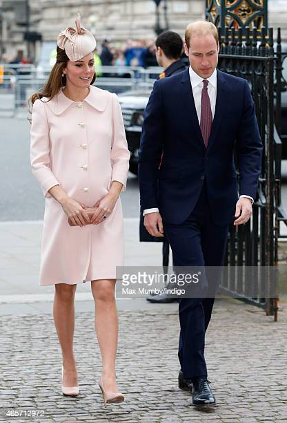 Catherine Duchess of Cambridge and Prince William Duke of Cambridge attend the Commonwealth Observance Service at Westminster Abbey on March 9 2015...