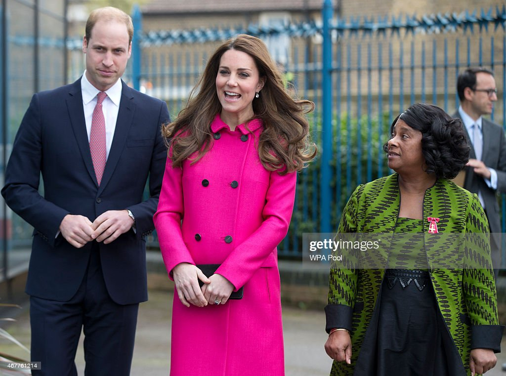 <a gi-track='captionPersonalityLinkClicked' href=/galleries/search?phrase=Catherine+-+Duchess+of+Cambridge&family=editorial&specificpeople=542588 ng-click='$event.stopPropagation()'>Catherine</a>, Duchess of Cambridge and <a gi-track='captionPersonalityLinkClicked' href=/galleries/search?phrase=Prince+William&family=editorial&specificpeople=178205 ng-click='$event.stopPropagation()'>Prince William</a>, Duke of Cambridge talk to <a gi-track='captionPersonalityLinkClicked' href=/galleries/search?phrase=Stephen+Lawrence&family=editorial&specificpeople=2276544 ng-click='$event.stopPropagation()'>Stephen Lawrence</a>'s mother Baroness Doreen Lawrence (R) as they leave the <a gi-track='captionPersonalityLinkClicked' href=/galleries/search?phrase=Stephen+Lawrence&family=editorial&specificpeople=2276544 ng-click='$event.stopPropagation()'>Stephen Lawrence</a> Centre in Deptford on March 27, 2015 in London, England. The centre is built in memory of 19 years old <a gi-track='captionPersonalityLinkClicked' href=/galleries/search?phrase=Stephen+Lawrence&family=editorial&specificpeople=2276544 ng-click='$event.stopPropagation()'>Stephen Lawrence</a>, who was stabbed to death by a group of white youths in April 1993 as he was waiting for a bus.