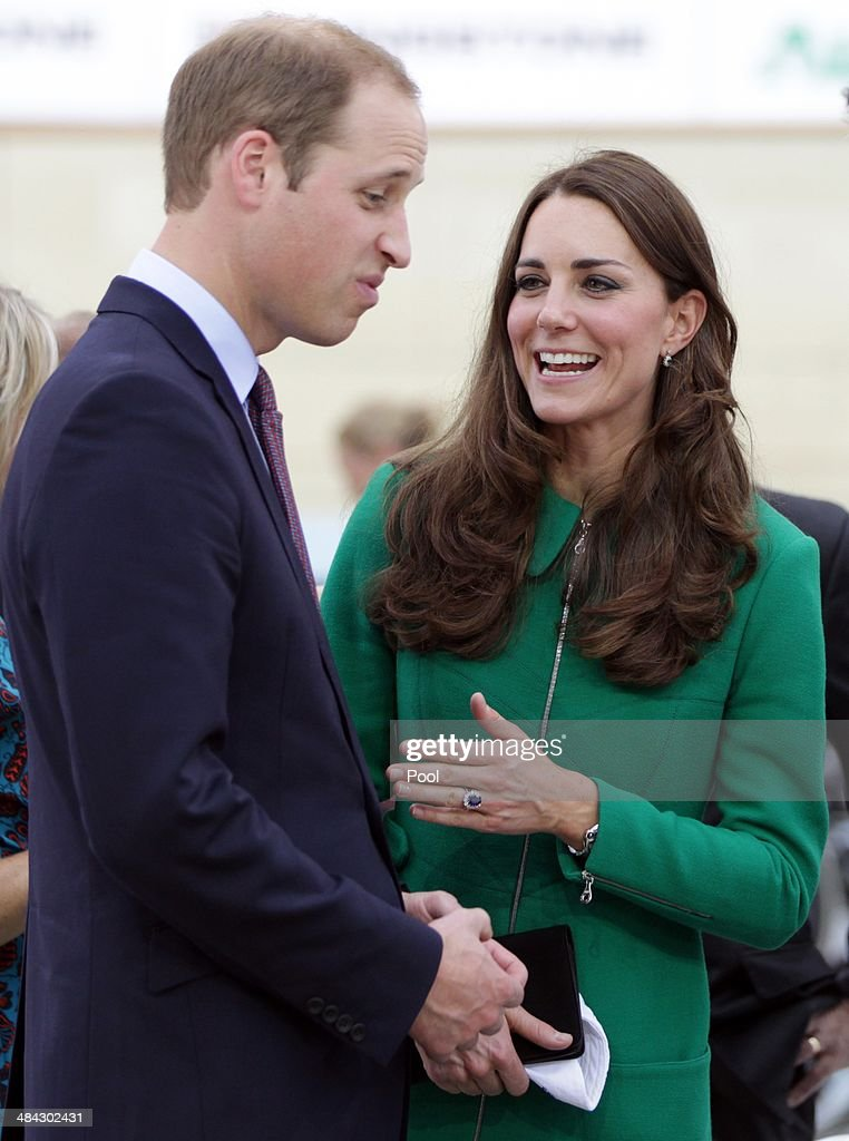 <a gi-track='captionPersonalityLinkClicked' href=/galleries/search?phrase=Catherine+-+Duchess+of+Cambridge&family=editorial&specificpeople=542588 ng-click='$event.stopPropagation()'>Catherine</a>, Duchess of Cambridge and <a gi-track='captionPersonalityLinkClicked' href=/galleries/search?phrase=Prince+William&family=editorial&specificpeople=178205 ng-click='$event.stopPropagation()'>Prince William</a>, Duke of Cambridge at Avantidrome where Their Royal Highnesses formally opened by unveiling a commemorative plaque on April 12, 2014 in Hamilton, New Zealand. The Duke and Duchess of Cambridge are on a three-week tour of Australia and New Zealand, the first official trip overseas with their son, Prince George of Cambridge.